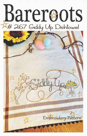 Giddy Up Embroidery Dishtowel Pattern