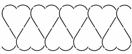 Quilt Stencil Heart Inverted Border 4in
