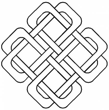 Quilt Stencil Celtic Squared Design 7in