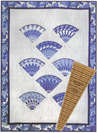Fan Throw Quilt (with15-degree Stack-n Whack ruler)