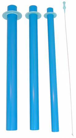 Blue Tube Set 18in 3 Tube Set