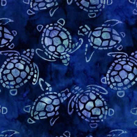 Blue Sea Turtles Batik