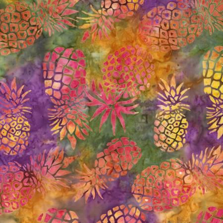 Violet Pineapple Batik