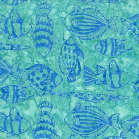 Blue Sea Life Batik