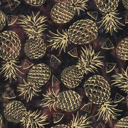 Tropical Batiks Pineapple Brown