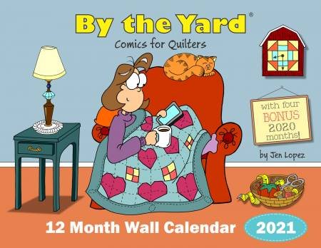 Peach Pit - By the Yard® 2021 Wall Calendar for Quilters