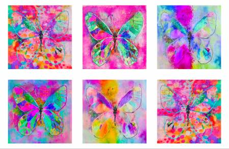 P & B Butterfly Dreams Digital Panel 27 x 44 BUTD4359-PA