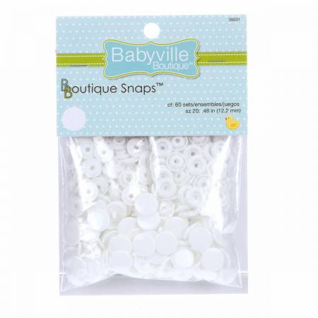 Babyville Boutique Snaps Size 20 White