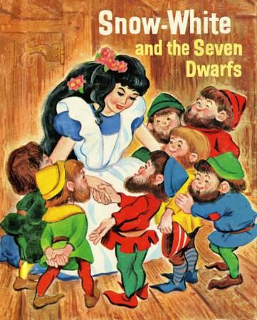 Vintage Storybook Snow White Panel