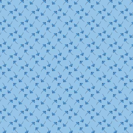Blue Stitch Daisy Sky