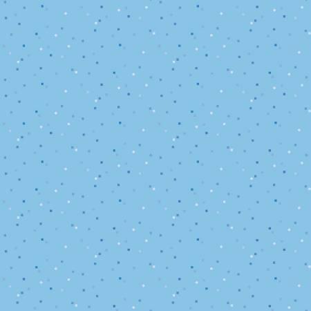 Blue Stitch Confetti Sky