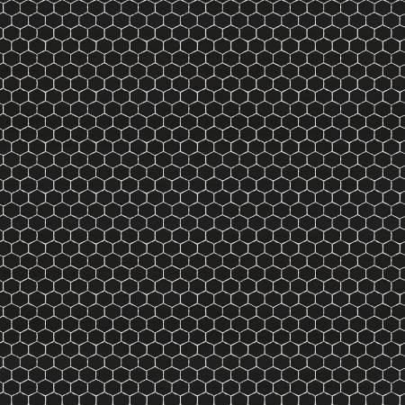 Bees Life Honeycomb Black
