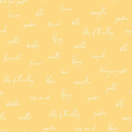 Bloom And Grow C10111 Words Yellow