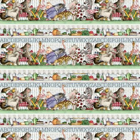 Hungry Animal Alphabet - Border Stripe