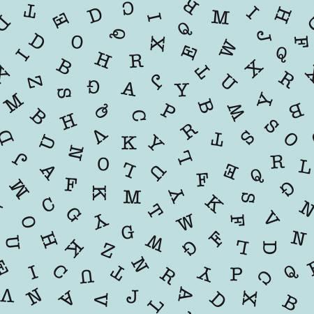 Riley Blake Hungry Animal Alphabet Abc Toss Blue C10184R-BLUE