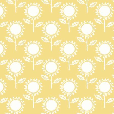 Hungry Animal Alphabet Sunflowers Yellow