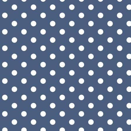 Notting Hill Dots Denim by Riley Blake