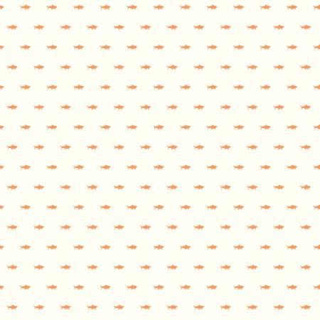 Riptide Shadows Tiny Orange Fish Fabric by the yard