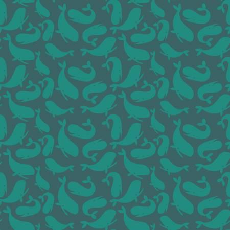 Ahoy! Mermaids Whales Ocean