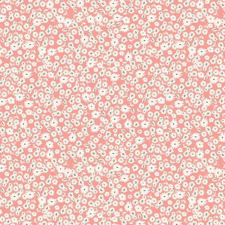 Gingham Gardens Blossoms Coral