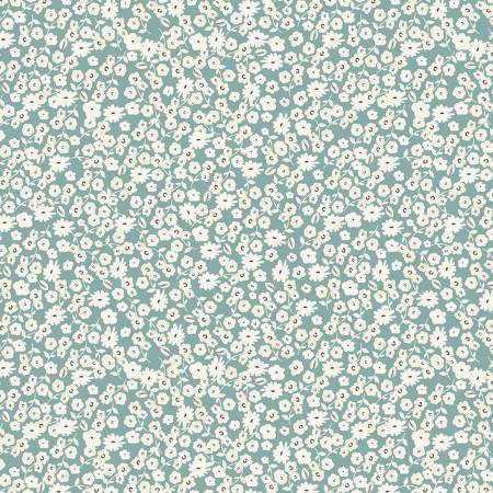 Gingham Gardens Blossoms Teal
