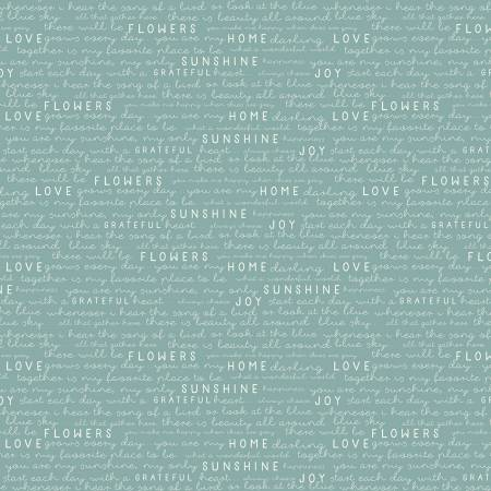 Gingham Gardens Text Teal