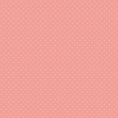 Gingham Gardens Plus Coral-10357