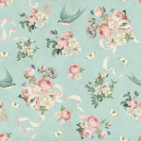 Rose Violets Garden Main Songbird