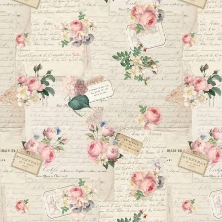 Rose Violets Garden Party Parchment