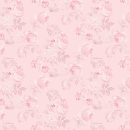 Rose Violets Garden Faded Roses C10412 Blush