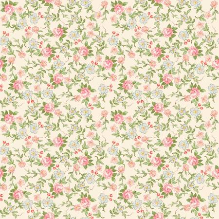 Rose Violets Garden Sweet Blossoms Cream