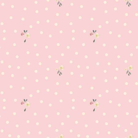 Rose Violets Garden Dots C10415 Blush