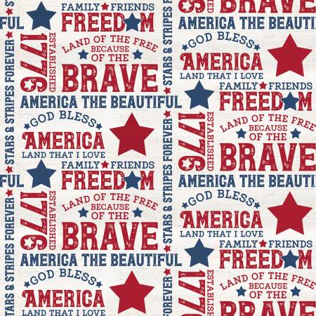 Let Freedom Soar Text Cream by Tara Reed