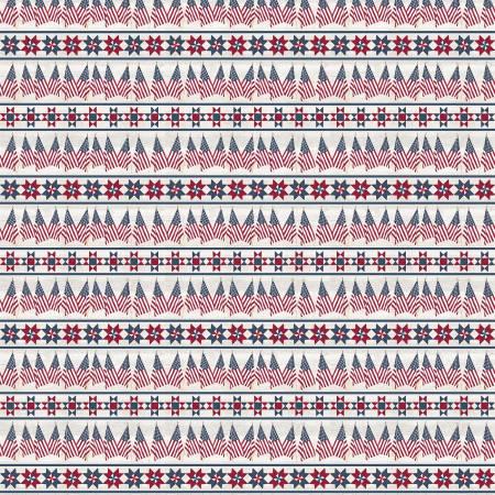 Let Freedom Soar -  Border Stripe by Tara Reed  C10522R-OFFWH