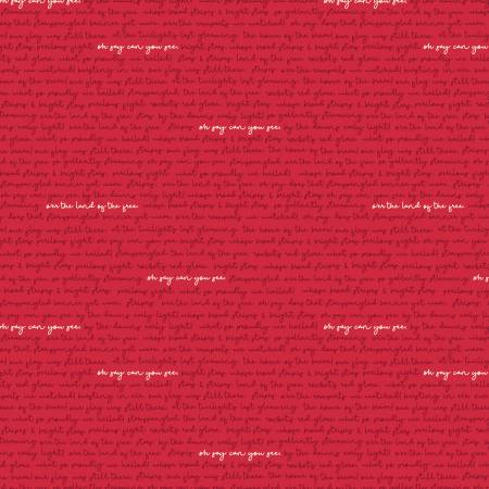 Land Of Liberty Text in Red by My Mind's Eye for Riley Blake  C10566R-RED