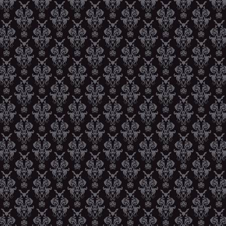 RB Spooky Hollow Damask Black