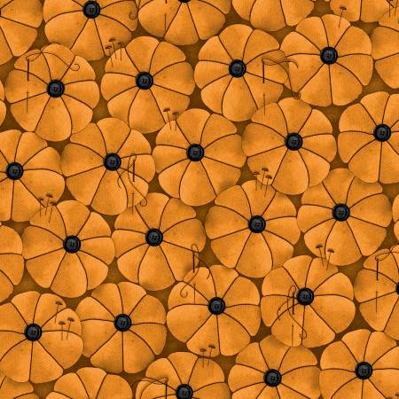Old Made Pumpkin Pins Orange