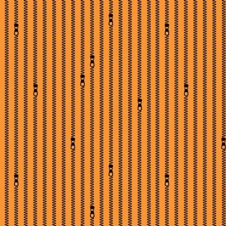 C10597-ORANGE Zipper Stripes Old Made J. Wecker Frisch Riley Blake
