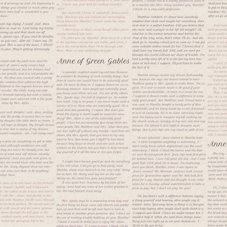 Anne Of Green Gables Text Parchment