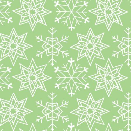 Christmas Snowflakes Green