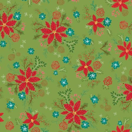 Snowed In C10811R-GREE Floral Green
