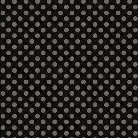 C10817-Black Snowed In - Sketched Dots (21G)