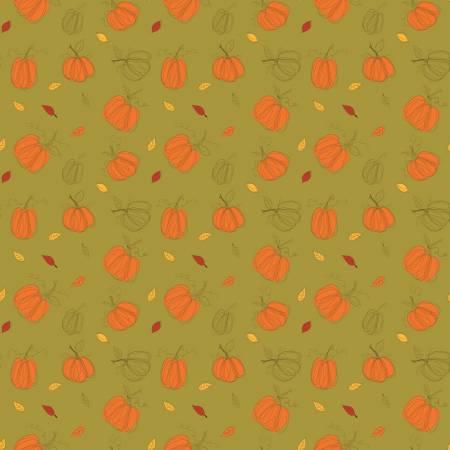 Adel in Autumn C10821R-OLIV Autumn Pumpkins Olive