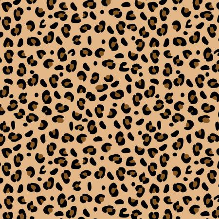 Spotted Leopard Cotton - Tan
