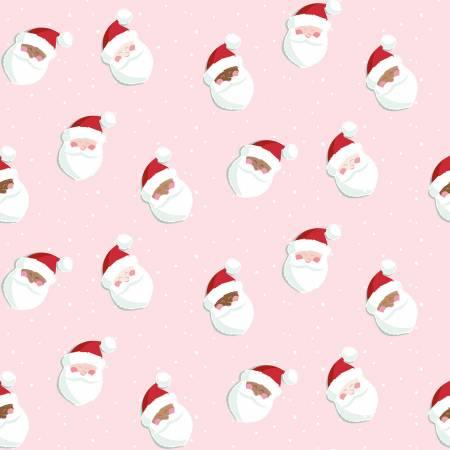 C10881R  Holly Holiday Santas - Petal pink (21G)