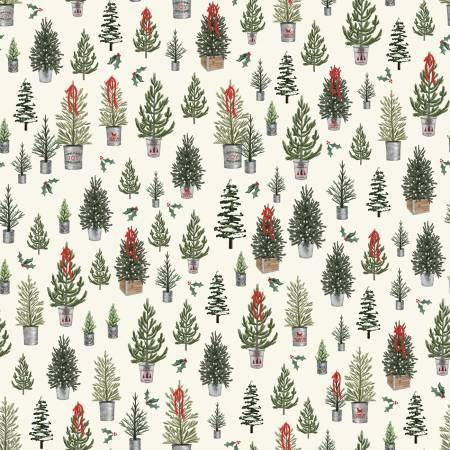 Farmhouse Christmas Trees Cream C10951