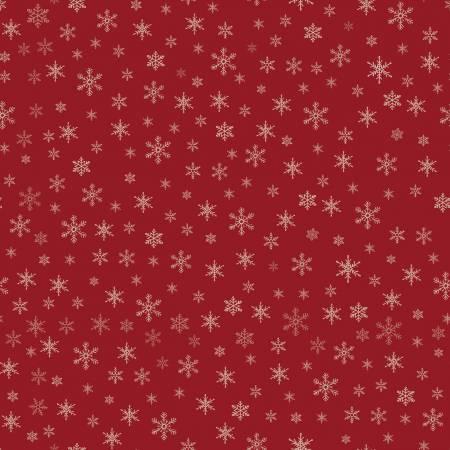 Farmhouse Christmas Snowflakes Red C10954