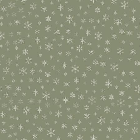 Farmhouse Christmas Snowflakes Sage C10954
