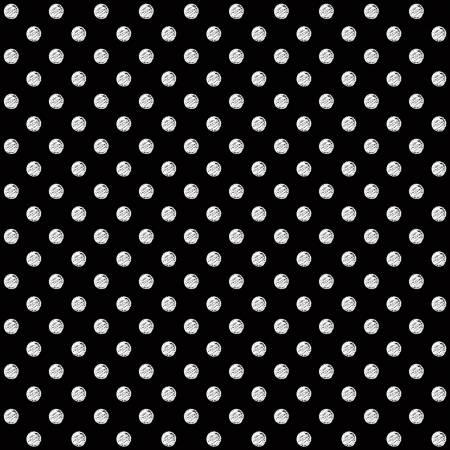 Coffee Chalk Polka Dots Black