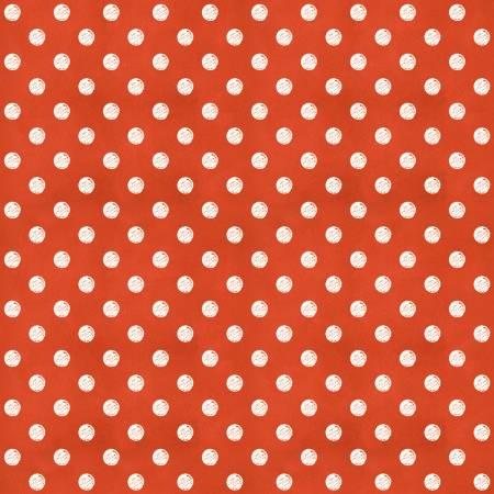 Coffee Chalk Polka Dots Red